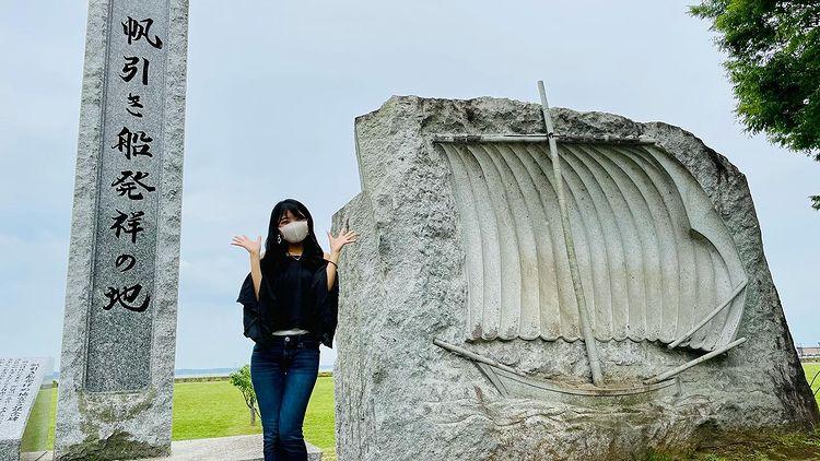 「歩崎公園」の石でできた帆引き船すごい😊page-visual 「歩崎公園」の石でできた帆引き船すごい😊ビジュアル